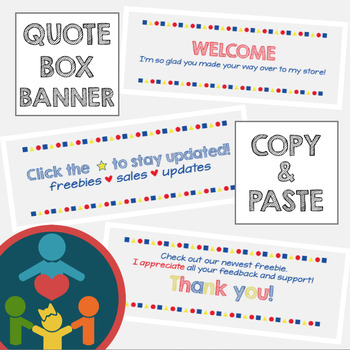 TPT Animated Quote Box : Primary Colors