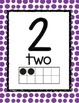 Number Posters--Primary Color Dots