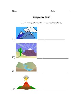 Primary Geography Test