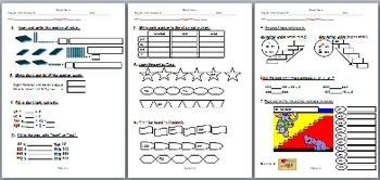 Primary Grade 2 Math Exam: Place Value, Counting Forward/B