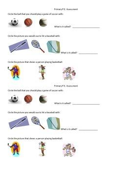 Primary Grades P.E. Assessment