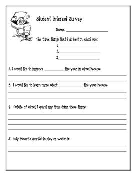 Primary Grades Student Interest Survey (1-3)