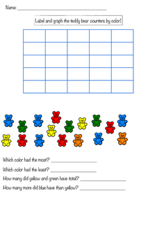 Primary Graphing number sense and data collecting