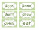 Primary Green Chevron Word Wall Cards