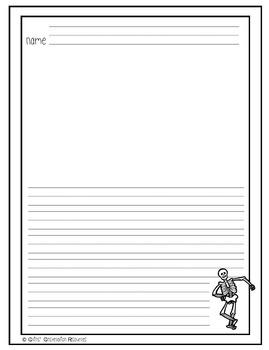 Primary Halloween Handwriting Paper Combo