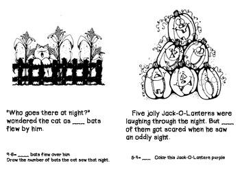 Primary Halloween Math