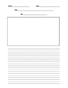 Primary Handwriting Paper Story Version B