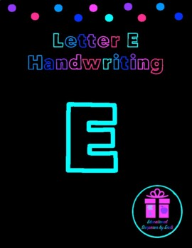 Primary Handwriting Practice - Letter E
