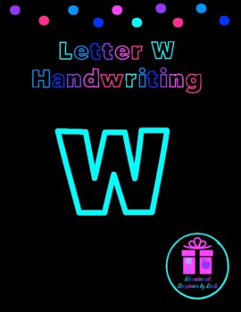 Primary Handwriting Practice - Letter W