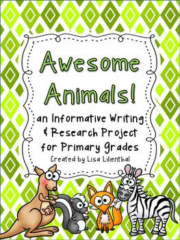 Animal Report / Informative Writing ~ Awesome Animals! {Co