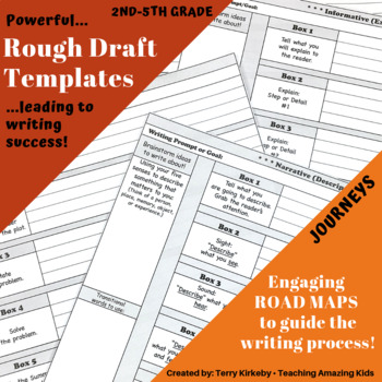 """2nd-5th Grades: Writing Mastery with """"Rough Draft"""" Templates"""