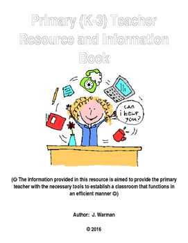Primary (K-3) Resource Information Book