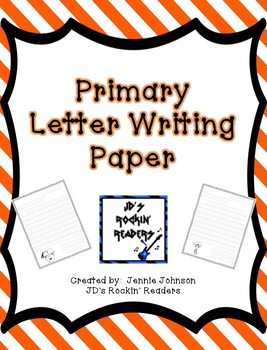 Primary Letter Writing Paper {FREEBIE}