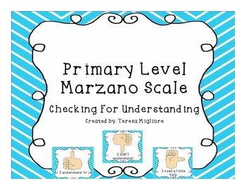 Primary Level Marzano Scale {Freebie}