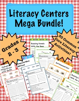 Primary Literacy Centers Mega Bundle!
