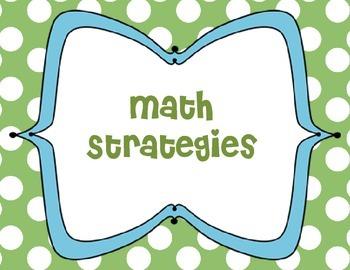 Primary Math Strategies-Green Polka Background