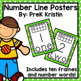Number Line (#0-30) Posters (with Ten Frames)