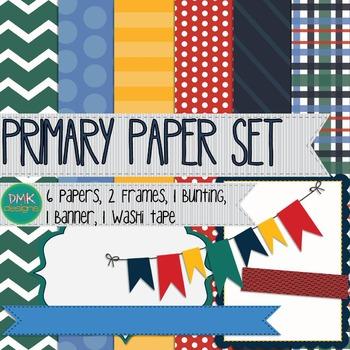 Digital Paper and Frame Set- Primary