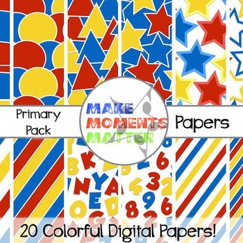 Perfect Primary Papers  --  A Digital Paper Pack!