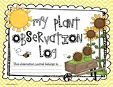 Primary Plant Observation Log