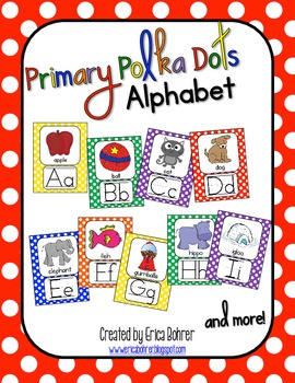 Primary Polka Dot Alphabet Posters