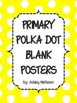 Primary Polka Dot Border Posters