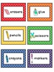 Primary Polka Dot Classroom Supply Labels