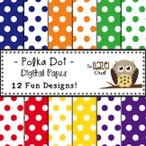 Digital Papers: Primary Polka Dots