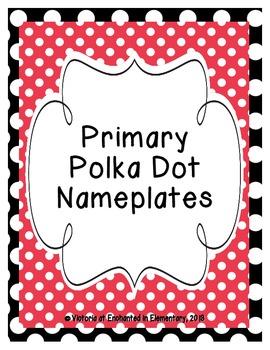 Primary Polka Dot Nameplates