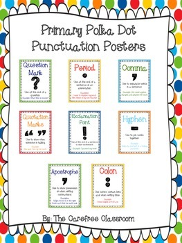 Primary Polka Dot Punctuation Posters