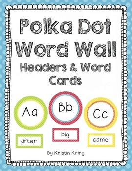 Primary Polka Dot Word Wall