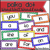 Primary Polka Dot Word Wall Words