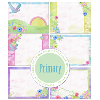 Primary PowerPoint Presentation and Printable Digital Paper