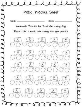 Primary Practice Sheet