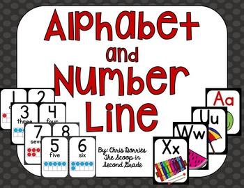 Primary Print Alphabet Line and Number Line Bundle