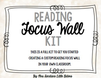 Primary Reading Focus Wall Kit