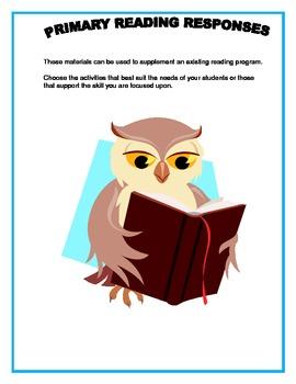 Primary Reading Response