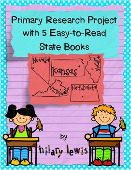 State Research Project with 5 Easy-to-Read State Books-IL,