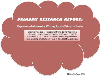 Primary Research Report: Informative/Expository Writing fo