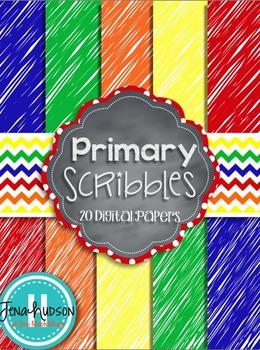 Primary Scribbles ~ Digital Paper