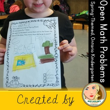 Primary (Kinder) Seasonal Open Math Problems - Spring - On