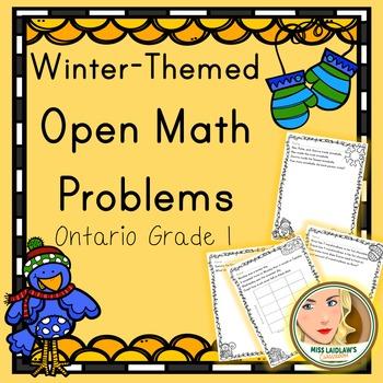 Primary Seasonal Open Math Problems - Winter - Ontario Grade 1