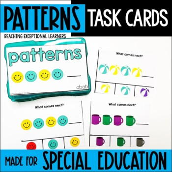 Patterns-Weather Themed Task Card Set-Special Education