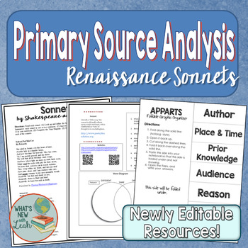 Primary Source Analysis Sonnets for History