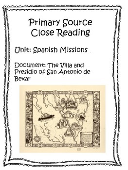 Primary Source Analysis - Spanish Missions in Texas