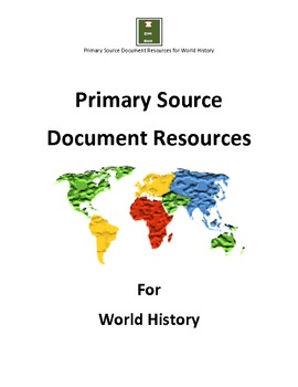 Primary Sources for World History