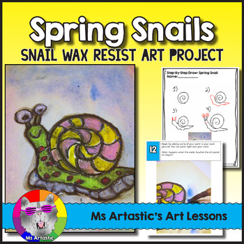Spring Art Lesson, Snail Wax Resist