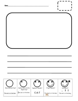Primary Writing Page with Smiley Face Checklist for Fun St
