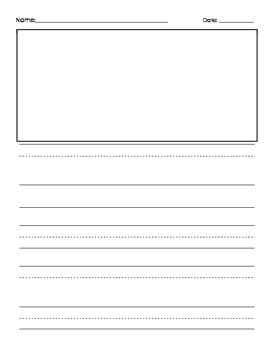 Primary Writing Paper Template