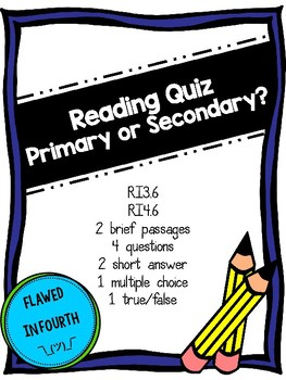 Primary and Secondary Sources Assessment